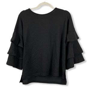 Urban Heritage Tiered Sleeve Cropped Sweater